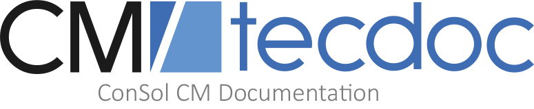 tecdoc - Consol CM Documentation